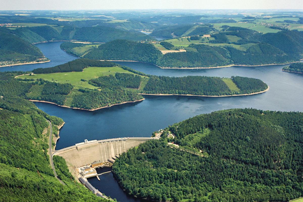 Luftbild–Hohenwarte–Stausee–