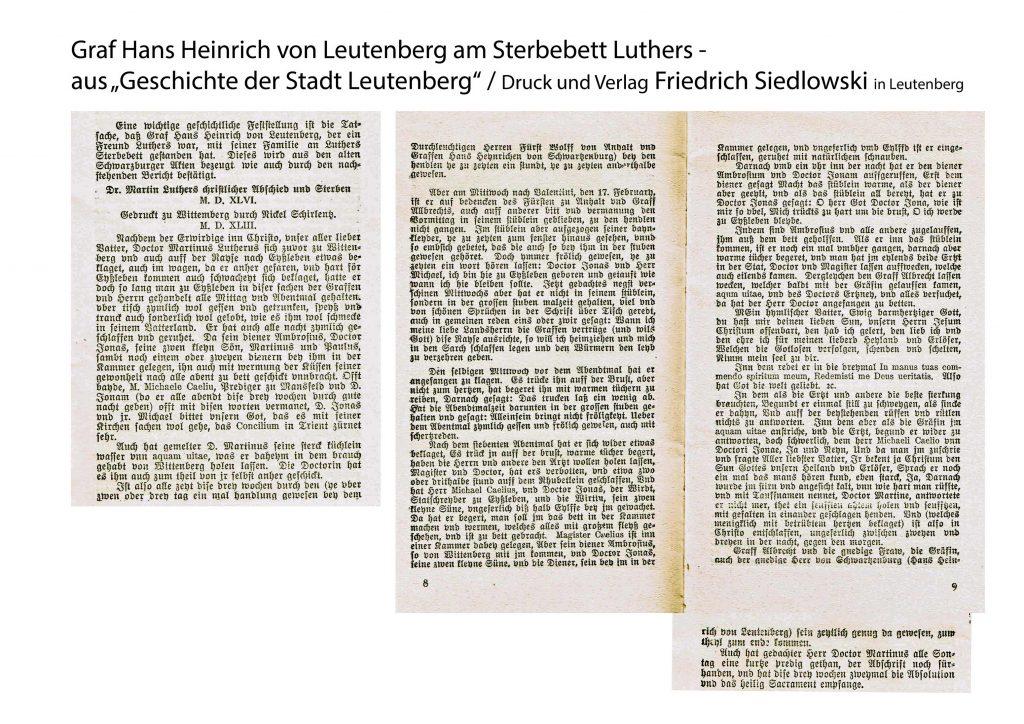 aus Geschichte der Stadt Leutenberg